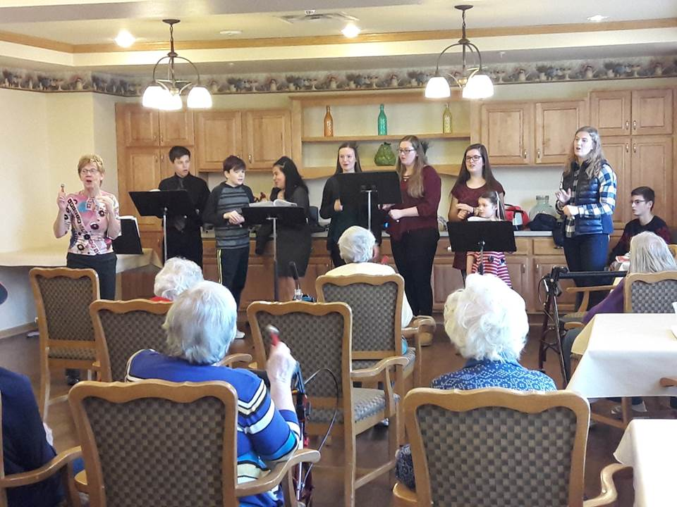 Jubilation Youth Choir Caroling at Nursing Home