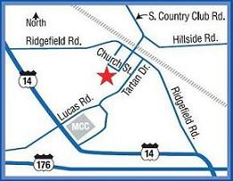 map to Ridgefield Crystal Lake Presbyterian Church