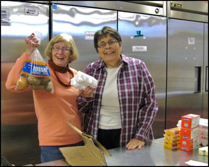 RCLPC Members at Food Pantry